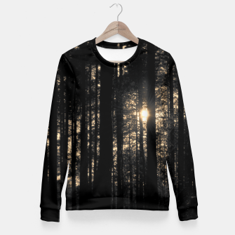 Miniatur Sun between trees Fitted Waist Sweater, Live Heroes