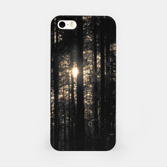 Thumbnail image of Sun between trees iPhone Case, Live Heroes