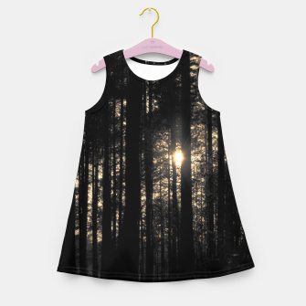 Thumbnail image of Sun between trees Girl's Summer Dress, Live Heroes