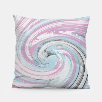 Miniatur pink and blue rounds  Pillow, Live Heroes