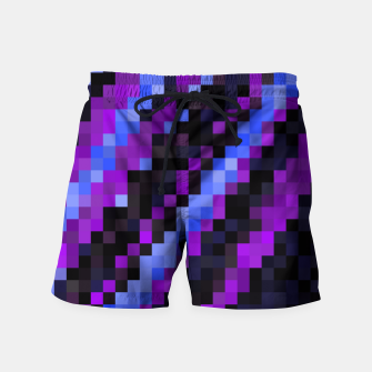 Thumbnail image of PIxelated Swim Shorts, Live Heroes
