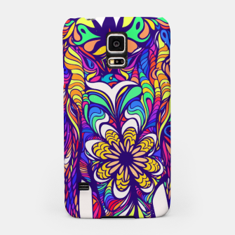 Miniatur Not a circus #elephant #Violet by #Bizzartino Samsung Case, Live Heroes