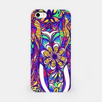 Thumbnail image of Not a circus #elephant #Violet by #Bizzartino iPhone Case, Live Heroes