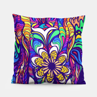 Miniatur Not a circus #elephant #Violet by #Bizzartino Pillow, Live Heroes