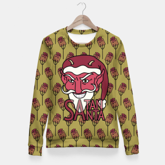 Thumbnail image of Satan Santa Fitted Waist Sweater, Live Heroes