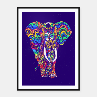 Miniatur Not a circus #elephant #Violet by #Bizzartino Framed poster, Live Heroes