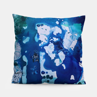 Thumbnail image of Orca Whale Marvels at the Melting Ice, Environmental # 4 Pillow, Live Heroes