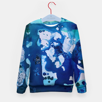 Miniatur Orca Whale Marvels at the Melting Ice, Environmental # 4 Kid's Sweater, Live Heroes