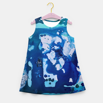 Miniatur Orca Whale Marvels at the Melting Ice, Environmental # 4 Girl's Summer Dress, Live Heroes