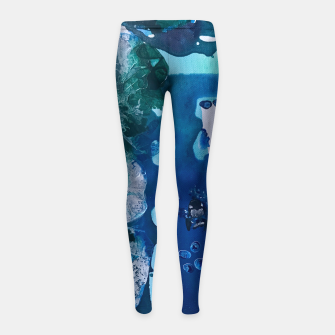 Thumbnail image of Orca Whale Marvels at the Melting Ice, Environmental # 4 Girl's Leggings, Live Heroes
