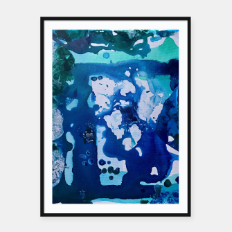 Miniatur Orca Whale Marvels at the Melting Ice, Environmental # 4 Framed poster, Live Heroes