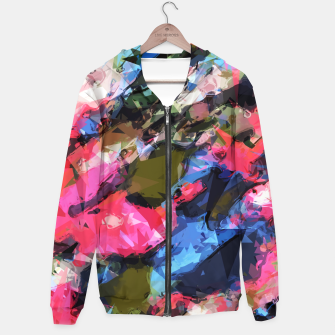 Miniaturka psychedelic geometric pattern painting abstract background in pink blue green Hoodie, Live Heroes