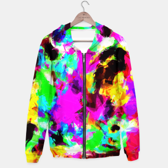 Miniaturka psychedelic geometric pattern painting abstract background in pink red blue green yellow orange Hoodie, Live Heroes