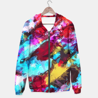 Miniaturka psychedelic geometric pattern painting abstract background in blue red yellow pink Hoodie, Live Heroes