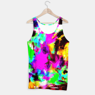 Imagen en miniatura de psychedelic geometric pattern painting abstract background in pink red blue green yellow orange Tank Top, Live Heroes