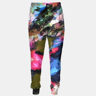Miniaturka psychedelic geometric pattern painting abstract background in pink blue green Sweatpants, Live Heroes