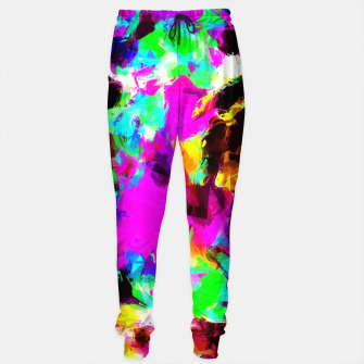 Miniaturka psychedelic geometric pattern painting abstract background in pink red blue green yellow orange Sweatpants, Live Heroes