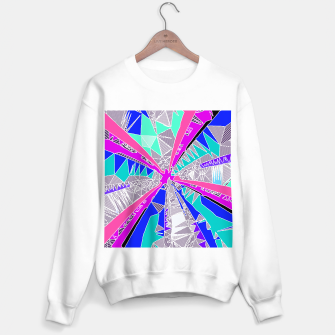 Miniatur psychedelic geometric pattern drawing abstract background in blue pink purple Sweater regular, Live Heroes