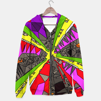 Miniaturka psychedelic geometric pattern drawing abstract background in red pink green yellow Hoodie, Live Heroes