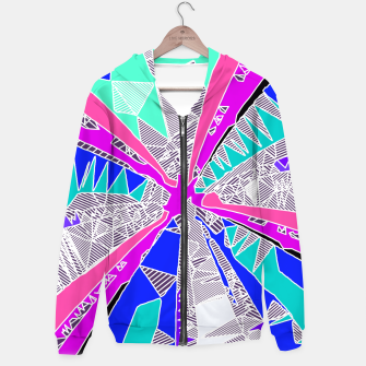 Miniaturka psychedelic geometric pattern drawing abstract background in blue pink purple Hoodie, Live Heroes