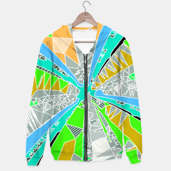Miniaturka psychedelic geometric pattern drawing abstract background in blue green yellow brown Hoodie, Live Heroes