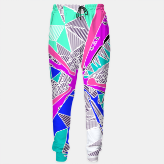 Miniaturka psychedelic geometric pattern drawing abstract background in blue pink purple Sweatpants, Live Heroes