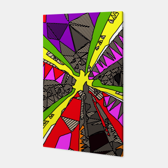 Miniatur psychedelic geometric pattern drawing abstract background in red pink green yellow Canvas, Live Heroes