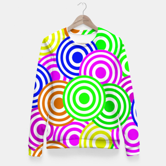 Thumbnail image of Vector Seamless pattern Decorative geometric  Fitted Waist Sweater, Live Heroes