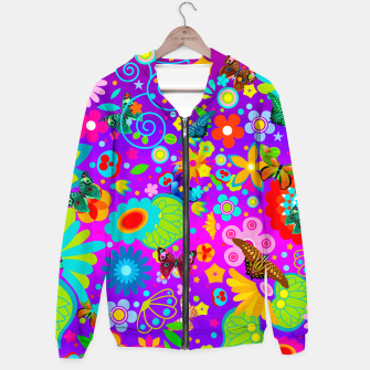Thumbnail image of Abstract Flowers with Butterflies Hoodie, Live Heroes
