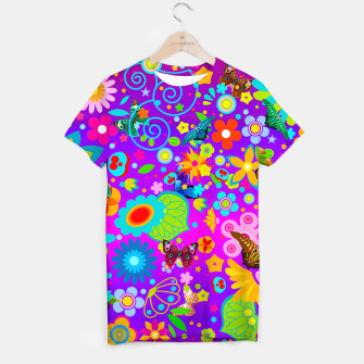 Thumbnail image of Abstract Flowers with Butterflies T-shirt, Live Heroes