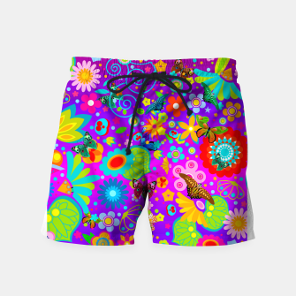 Thumbnail image of Abstract Flowers with Butterflies Swim Shorts, Live Heroes