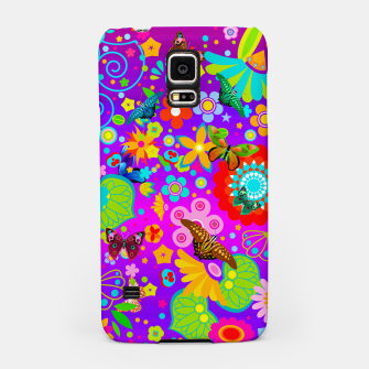Thumbnail image of Abstract Flowers with Butterflies Samsung Case, Live Heroes