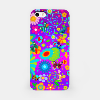 Thumbnail image of Abstract Flowers with Butterflies iPhone Case, Live Heroes