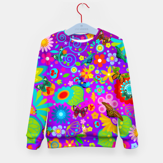 Thumbnail image of Abstract Flowers with Butterflies Kid's Sweater, Live Heroes