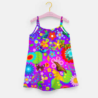 Thumbnail image of Abstract Flowers with Butterflies Girl's Dress, Live Heroes