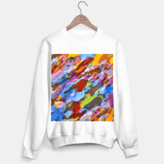 Imagen en miniatura de camouflage pattern painting abstract background in green blue pink orange brown Sweater regular, Live Heroes