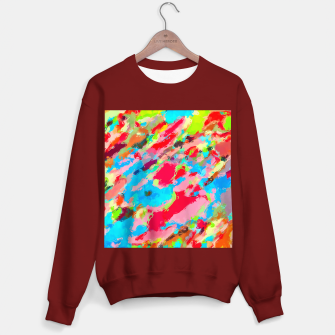 Imagen en miniatura de camouflage pattern painting abstract background in green blue pink red orange Sweater regular, Live Heroes