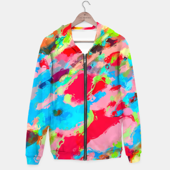 Miniaturka camouflage pattern painting abstract background in green blue pink red orange Hoodie, Live Heroes