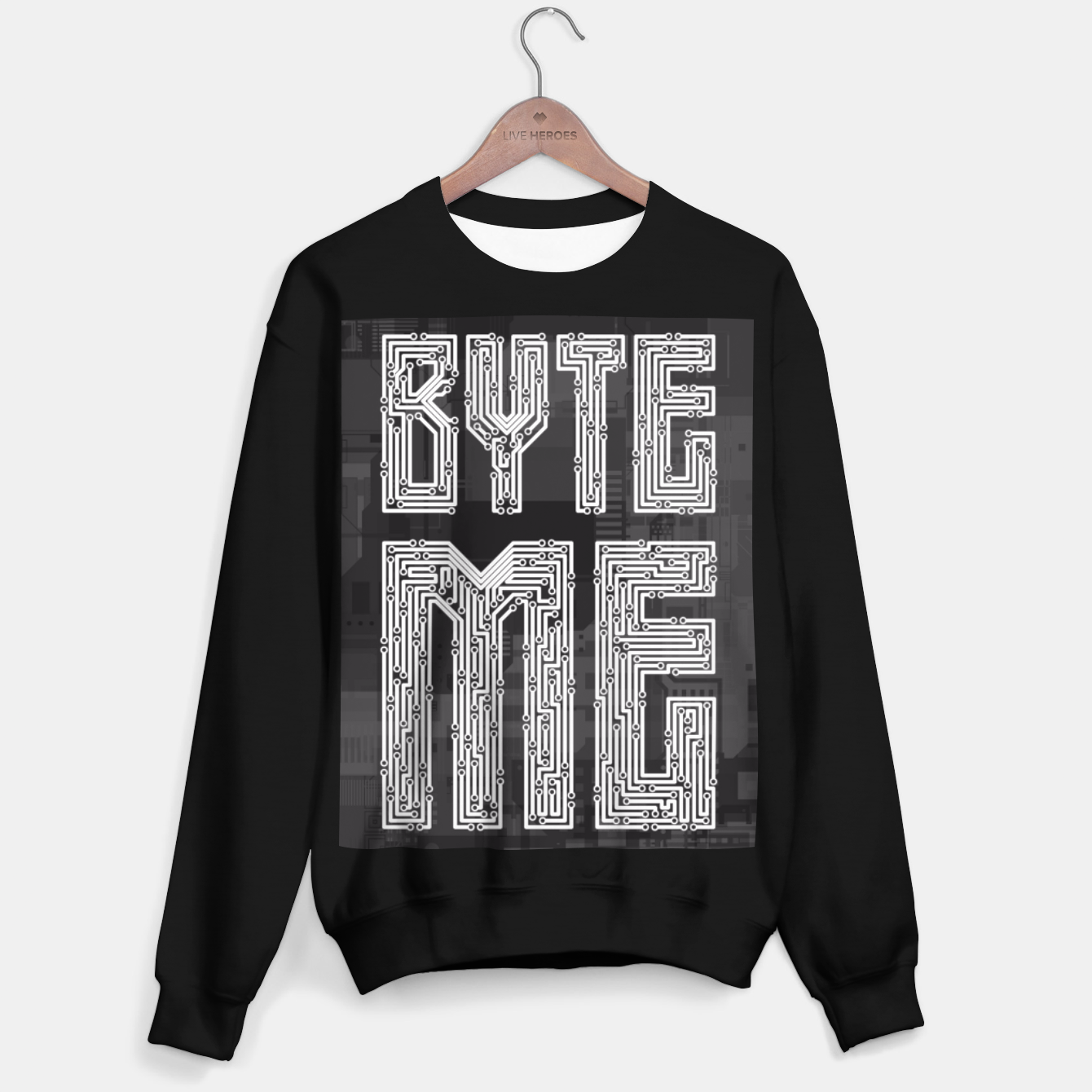 Image of Byte Me Sweater regular - Live Heroes