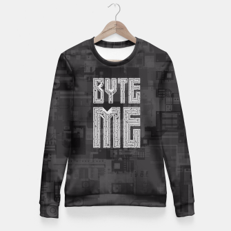 Thumbnail image of Byte Me Fitted Waist Sweater, Live Heroes