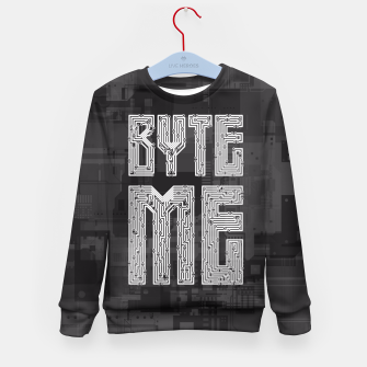 Thumbnail image of Byte Me Kid's Sweater, Live Heroes