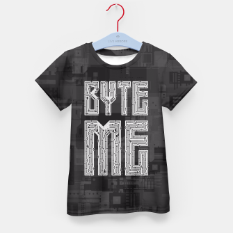 Byte Me Kid's T-shirt thumbnail image