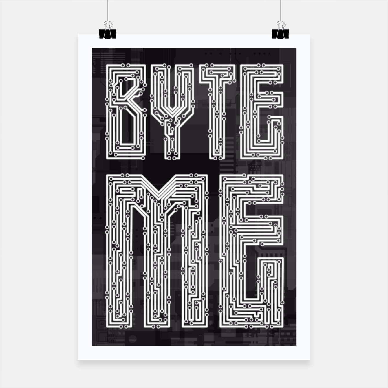 Image of Byte Me Poster - Live Heroes