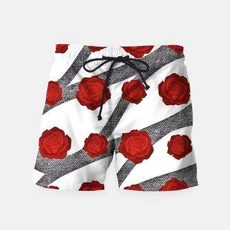 Thumbnail image of Red roses  Swim Shorts, Live Heroes