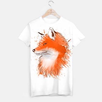 Miniatur Water Color Fox Camiseta, Live Heroes