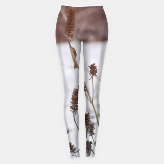 Thumbnail image of Plants in the snow Leggings, Live Heroes