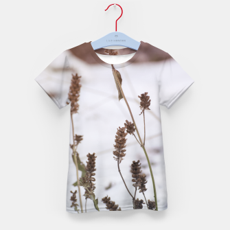 Thumbnail image of Plants in the snow Kid's T-shirt, Live Heroes