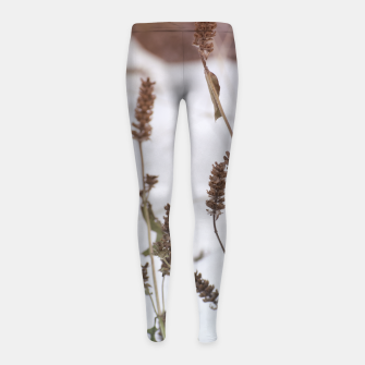 Thumbnail image of Plants in the snow Girl's Leggings, Live Heroes