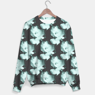 Thumbnail image of Vintage Roses Blue Pattern Sweater, Live Heroes