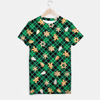 Miniatur Gingerbread Green T-shirt, Live Heroes
